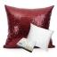 หมอนอิง Sequin Pillow Cushion Cover Pillow Case ขนาด 18 นิ้ว x 18 นิ้ว (45cm) – สีแดง Ruby thumbnail 1