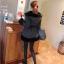 เสื้อคลุมกันหนาวฮู้ดดี้ สวยไฮโซ ใส่ได้ 2 ด้าน สีดำ thumbnail 8