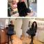 เสื้อคลุมกันหนาวฮู้ดดี้ สวยไฮโซ ใส่ได้ 2 ด้าน สีดำ thumbnail 9