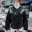 เสื้อคลุม แจ็คเก็ตซิป หนังพียู สีดำ thumbnail 5