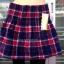 เลคกิ้งกางเกง+กระโปรง แต่งลายสก็อตน้ำเงิน+แดง บุผ้าวูลหนานุ่ม thumbnail 4