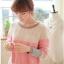 สเวตเตอร์ เสื้อกันหนาวผ้าไหมพรม แขนยาว สีชมพู thumbnail 4