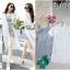 เดรส+เสื้อคลุมชีฟอง-สีขาว thumbnail 2