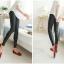 Legging กางเกงเลกกิ้งหนัง ขายาว สีดำ thumbnail 4