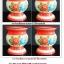 กระโถนพระเคลือบสีแดง ลายดอกไม้ สีสดใส thumbnail 1