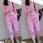เซ็ตเสื้อแขนยาว+กางเกงขายาว-สีชมพู thumbnail 1