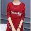 เสื้อยืดแฟชั่นแขนยาว ผ้าหนานิ่มด้านในกำมะหยี่ สีแดง thumbnail 6