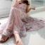 Maxi Dress สายเดี่ยว ผ้าชีฟองพริ้ว ๆ ลายสวยหวาน thumbnail 4