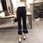 กางเกงขายาว 5 ส่วน ผ่าหน้าเก๋ ๆ สไตล์เกาหลี สีดำ thumbnail 4
