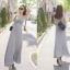 Maxi dress ชุดเดรสยาวคอวีแขนกุด สวยเซ็กซี่ thumbnail 5