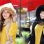 เซ็ตหมวก&ผ้าพันคอ 2in1 set c แต่งเฟอร์รอบหมวก อุ่น&หรูหรา thumbnail 2
