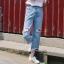 กางเกงยีนส์แฟชั่น แต่งขาด แนวเท่ห์ ๆ thumbnail 8