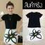 เซ็ตเสื้อยืดสีดำ+กระโปรงสกรีนดอกไม้ thumbnail 3