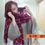 ผ้าพันคอ ผ้าคลุมไหล่ ลายตาราง สไตล์เกาหลี thumbnail 2