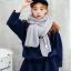 ผ้าพันคอไหมพรม เกาหลี สีเทา ใส่ได้ชาย และหญิง
