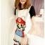 ชุดเอี๊ยม jumpsuit Super Mario เอวยืด พร้อมสายเอี๊ยมแบบถอดได้ สีเทา thumbnail 1