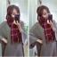 ผ้าพันคอ ผ้าคลุมไหล่ ลายตาราง สไตล์เกาหลี thumbnail 3