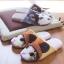 รองเท้าใส่เดินในบ้าน รองเท้าแตะในบ้าน รูปน้องเหมียวน่ารัก (Winter Lovely Cartoon Animals Slippers) thumbnail 6