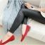 Legging กางเกงเลกกิ้งหนัง ขายาว สีดำ thumbnail 3