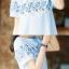 เสื้อแฟชั่น มินิเดรส ปักลาย แต่งดอกไม้ มี 3 สี thumbnail 5