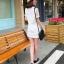 เสื้อแฟชั่น มินิเดรส EXCITING Barcode แขนซีทรู สีขาว thumbnail 4