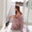 Maxi Dress สายเดี่ยว ผ้าชีฟองพริ้ว ๆ ลายสวยหวาน thumbnail 2
