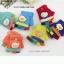 ถุงมือไหมพรมเด็กเล็ก ๆ ทอแน่นละเอียด ตกแต่งรูปเป็ดน่ารัก thumbnail 1