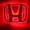 LFC022 LED Car Logo HONDA โลโก้ LED ฮอนด้า แดง ขาว ฟ้า ยี่ห้อ OEM รุ่น