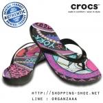 W8 (25 cm.) : Crocs Really Sexi House of Field Flip - Black ของแท้ Outlet ไทยและอเมริกา