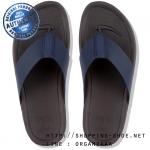 US8 : Fitflop Men's Surfer Leather Midnight Navy ของแท้ นำเข้าจาก USA และ UK
