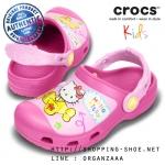 C12/13 (20 cm.) : Creative Crocs Hello Kitty Plane Clog - Fuchsia ของแท้ Outlet ไทยและอเมริกา