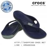 M7/W9 (25.5 cm.) : Crocs Duet Wave Flip - Nautical Navy / Concrete ของแท้ Outlet ไทยและอเมริกา