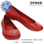 W6 (23 cm.) : Crocs Gianna Disc Flat - Pepper / Silver ของแท้ Outlet ไทยและอเมริกา