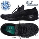 US7.5 : Skechers You Inspire Trainers - Black / Gray ของแท้ นำเข้าจาก USA และ UK