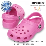 J3 (23 cm.) : Crocs Kids Classic Clog - Party Pink ของแท้ Outlet ไทยและอเมริกา