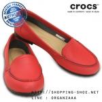 W8 (25 cm.) : Crocs Women's Marin ColorLite Loafer - Pepper / Black ของแท้ Outlet ไทยและอเมริกา