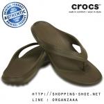 M8/W10 (27.5 cm.) : Crocs Classic Flip - Walnut ของแท้ Outlet ไทยและอเมริกา