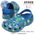 J1 (21.5 cm.) : Crocs Kids Classic Summer Fun Clog - Ultramarine ของแท้ Outlet ไทยและอเมริกา