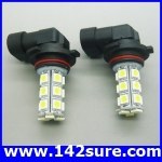 LFC025 หลอดไฟตัดหมอก สปอร์ตไลท์ 1คู่ 18LED 5050 SMD Auto Car Fog Light Lamp Bulb High Power
