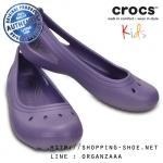 J1 (20 cm.) : Crocs Kadee Flat Girl - Blue Violet ของแท้ Outlet ไทยและอเมริกา