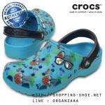 M4/W6 (23.5 cm.) : Crocs Classic Summer Fun Clog - Electric Blue ของแท้ Outlet ไทยและอเมริกา