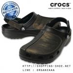 M8 (27 cm) : Crocs Yukon Mesa Camo Clog - Black / Camo ของแท้ Outlet ไทยและอเมริกา