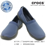W6 (23 cm.) : Crocs Duet Busy Day 2.0 Satya A-line - Bijou Blue / Graphite ของแท้ Outlet ไทยและอเมริกา