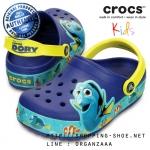 C10 (17 cm.) : CrocsLights Finding Dory Clog - Cerulean Blue / Lemon ของแท้ Outlet ไทยและอเมริกา