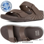 US10 : Fitflop Men's Gogh Moc Pool Slide Adjustable Chocolate ของแท้ นำเข้าจาก USA และ UK