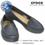 W5 (22.5 cm.) : Crocs Women's Marin ColorLite Loafer - Navy / Graphite ของแท้ Outlet ไทยและอเมริกา