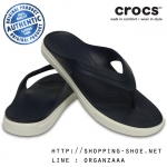 M6/W8 (25.5 cm.) : Crocs CitiLane Flip - Navy / White ของแท้ Outlet ไทยและอเมริกา