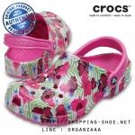 M4/W6 (24 cm.) : Crocs Classic Graphic Clog - Party Pink ของแท้ Outlet ไทยและอเมริกา