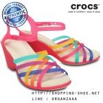 W8 (25 cm.) : Crocs Huarache Sandal Wedge - Multi / Candy Pink ของแท้ Outlet ไทยและอเมริกา