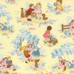 ผ้าฝ้ายญี่ปุ่นลาย เด็กผู้หญิง Petite Marianne โทนเหลือง น่ารักมากค่ะ ผ้าเนื้อดีสีสวย คอตตอน 100%